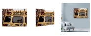"Trademark Global Nina Papiorek 'NYC School Bus' Canvas Art - 19"" x 14"""