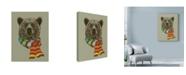 "Trademark Global Rachel Caldwell 'Bear Scarf' Canvas Art - 14"" x 19"""