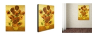 "Trademark Global Vincent Van Gogh 'Vase with Sunflowers' Canvas Art - 19"" x 14"""