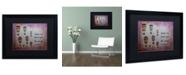 """Trademark Global Nicole Dietz 'Hot Air Balloons, Sweet Girl' Matted Framed Art - 16"""" x 20"""""""