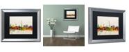 "Trademark Global Michael Tompsett 'Paris Skyline' Matted Framed Art - 16"" x 20"""