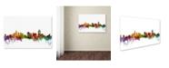 "Trademark Global Michael Tompsett 'Cincinnati Ohio Skyline' Canvas Art - 16"" x 24"""