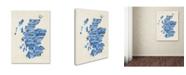 "Trademark Global Michael Tompsett 'Scotland Typography Text Map 2' Canvas Art - 24"" x 32"""