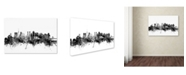 "Trademark Global Michael Tompsett 'Tokyo Japan Skyline B&W' Canvas Art - 22"" x 32"""