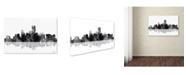 "Trademark Global Marlene Watson 'Jersey City New Jersey Skyline BG-1' Canvas Art - 22"" x 32"""