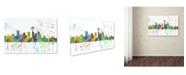 "Trademark Global Marlene Watson 'Seattle Washington Skyline Mclr-1' Canvas Art - 30"" x 47"""
