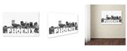 "Trademark Global Marlene Watson 'Phoenix Arizona Skyline BG-2' Canvas Art - 30"" x 47"""