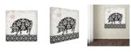 "Trademark Global Stephanie Marrott 'Pig B&W' Canvas Art - 24"" x 24"""