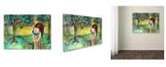 "Trademark Global Wyanne 'Big Eyed Girl Free To Love' Canvas Art - 24"" x 32"""