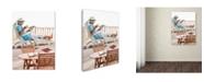 "Trademark Global The Macneil Studio 'Relaxing On Decking' Canvas Art - 35"" x 47"""