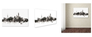 "Trademark Global Michael Tompsett 'Shanghai China Skyline III' Canvas Art - 30"" x 47"""