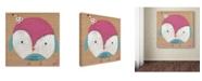 "Trademark Global Nicole Dietz 'Owl Party Pink Blue' Canvas Art - 35"" x 35"""