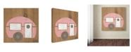 "Trademark Global Nicole Dietz 'Pink Camp' Canvas Art - 24"" x 24"""
