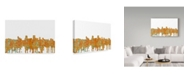 "Trademark Global Marlene Watson 'Anchorage Alaska Skyline Rust' Canvas Art - 22"" x 32"""