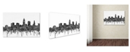 "Trademark Global Marlene Watson 'Cleveland Ohio Skyline BW' Canvas Art - 22"" x 32"""