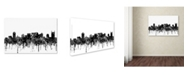 "Trademark Global Marlene Watson 'Nashville Tennessee Skyline BW' Canvas Art - 30"" x 47"""