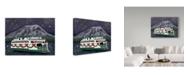 "Trademark Global Jake Hose 'The Christmas Ferry' Canvas Art - 35"" x 47"""