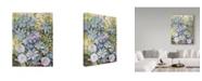 "Trademark Global Joanne Porter 'Blue Clematis' Canvas Art - 24"" x 32"""