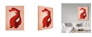 "Trademark Global John W. Golden 'Red Dragon' Canvas Art - 24"" x 32"""