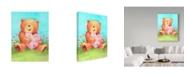 "Trademark Global Melinda Hipsher 'Bear With Heart' Canvas Art - 24"" x 32"""