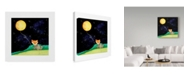 "Trademark Global Nicole Dietz 'Fox and the Moon Balloon' Canvas Art - 24"" x 24"""