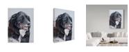 "Trademark Global Rusty Frentner 'Black Dog' Canvas Art - 24"" x 32"""