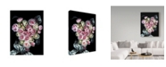 "Trademark Global Susan S. Barmon 'Pink And White Roses With Lace' Canvas Art - 24"" x 32"""