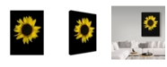 "Trademark Global Susan S. Barmon 'Sunflower 1' Canvas Art - 35"" x 47"""