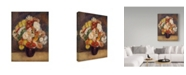 "Trademark Global Pierre Auguste Renoir 'Bouquet Of Chrysanthemums' Canvas Art - 47"" x 35"""