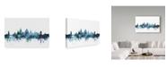 "Trademark Global Michael Tompsett 'Oxford England Blue Teal Skyline' Canvas Art - 32"" x 22"""