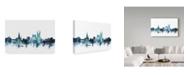 "Trademark Global Michael Tompsett 'Bath England Blue Teal Skyline Cityscape' Canvas Art - 32"" x 22"""