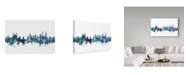 "Trademark Global Michael Tompsett 'Lucerne Switzerland Blue Teal Skyline' Canvas Art - 47"" x 30"""
