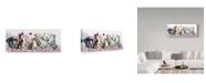 """Trademark Global Jan Benz 'Flower Cats' Canvas Art - 47"""" x 20"""""""