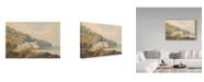 "Trademark Global William Brenton Boggs 'Fort St. Lago, Madeira, C.1850' Canvas Art - 47"" x 30"""