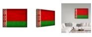 "Trademark Global Red Atlas Designs 'Belarus Distressed Flag' Canvas Art - 32"" x 24"""