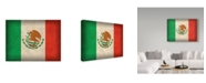 "Trademark Global Red Atlas Designs 'Mexico Distressed Flag' Canvas Art - 32"" x 24"""