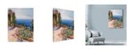 "Trademark Global Li Bo 'Arbor By The Ocean' Canvas Art - 35"" x 47"""