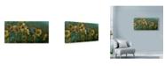 "Trademark Global Michael Jackson 'Sunflowers Patch Birds' Canvas Art - 24"" x 12"""