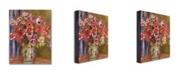 """Trademark Global Pierre Renoir 'Vase of Tulips and Anemones' Canvas Art - 32"""" x 26"""""""