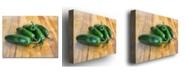 "Trademark Global Michelle Calkins 'Jalepenos' Canvas Art - 32"" x 22"""