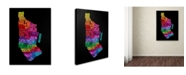 """Trademark Global Michael Tompsett 'Manhattan Text Map 2' Canvas Art - 24"""" x 16"""""""