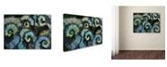 "Trademark Global Kurt Shaffer 'Escargo Begonia Leaves' Canvas Art - 47"" x 35"""