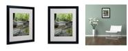 """Trademark Global Monica Fleet 'Crystal Rock' Matted Framed Art - 20"""" x 16"""""""
