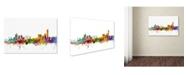 """Trademark Global Michael Tompsett 'Manchester England Skyline II' Canvas Art - 32"""" x 22"""""""