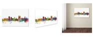 "Trademark Global Michael Tompsett 'Cardiff Wales Skyline II' Canvas Art - 47"" x 30"""
