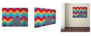 "Trademark Global Nicole Dietz 'Pink and Gold Whale Chevron' Canvas Art - 32"" x 24"""