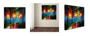 "Trademark Global Ricardo Tapia 'Night Reflection' Canvas Art - 24"" x 24"""