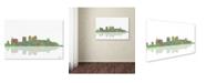 "Trademark Global Marlene Watson 'Birmingham Alabama Skyline' Canvas Art - 30"" x 47"""