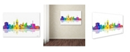 "Trademark Global Marlene Watson 'Lansing Michican Skyline' Canvas Art - 30"" x 47"""
