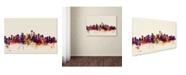 "Trademark Global Michael Tompsett 'Seattle Washington Skyline IV' Canvas Art - 22"" x 32"""